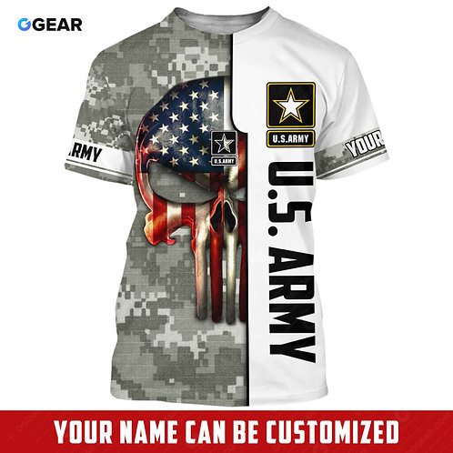 OFFICIAL-U.S.ARMY-MILITARY-TEES/NEW-CUSTOMIZE-WITH-YOUR-NAME-OR-MILITARY-UNIT!!