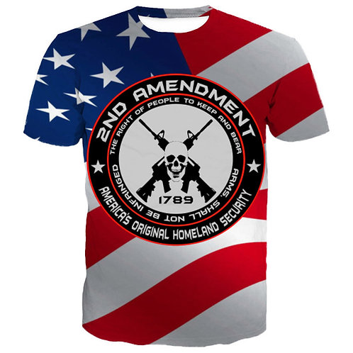 OFFICIAL-2ND-AMENDMENT-TEES/CUSTOM-3D-GRAPHIC-PRINTED-DOUBLE-SIDED-PREMIUM-TEES!