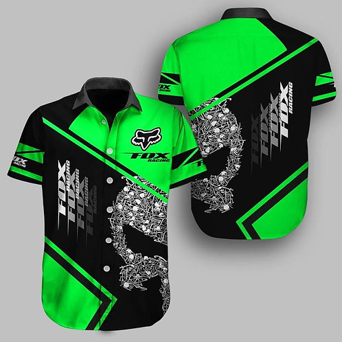 OFFICIAL-FOX-RACING & PUNISHER-SKULL-BUTTON-UP-SHIRTS/CUSTOM-3D-GRAPHIC-DESIGNED