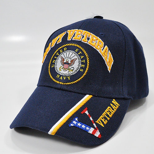 OFFICIALLY-LICENSED-U.S.NAVY-BLUE-VETERANS-HATS/3D-CUSTOM-EMBROIRDERED-GRAPHICS!