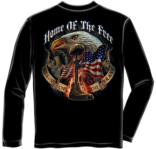 OFFICIALLY-LICENSED-U.S.MILITARY-VETERANS/CUSTOM-3D-GRAPHIC-PRINTED-LONG-TEES!!