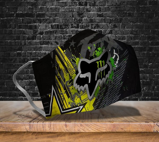 OFFICIAL-MONSTER & FOX-RACING-PROTECTIVE-FACE-MASK/CUSTOM-3D-PRINTED DESIGNED!