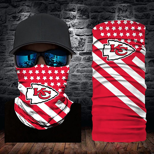 OFFICIAL-N.F.L.KANSAS-CITY-CHIEFS-FACE & GAITER-NECK-SCARF/MULTI-USE-SPORT-MASK!