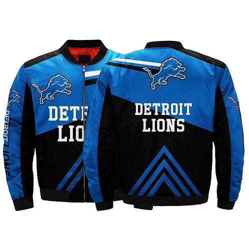 *(OFFICIAL-N.F.L.DETRIOT-LIONS/NEW-3D-CUSTOM-PRINT-TEAM-COLORS & LOGOS-JACKETS)*