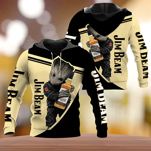 OFFICIAL-JIM-BEAM-BOURBON-WHISKEY-PULLOVER-HOODIES/NEW-CUSTOM-3D-ANIMATED-GROOT!