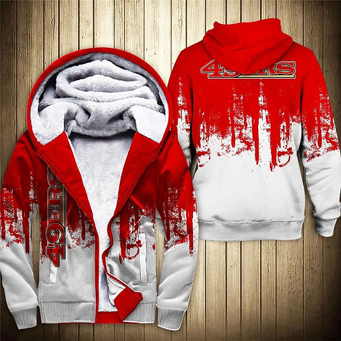 OFFICIAL-N.F.L.SAN-FRANCISCO-49ERS-TEAM-FLEECE-HOODIE/CUSTOM-3D-GRAPHIC-DESIGNED