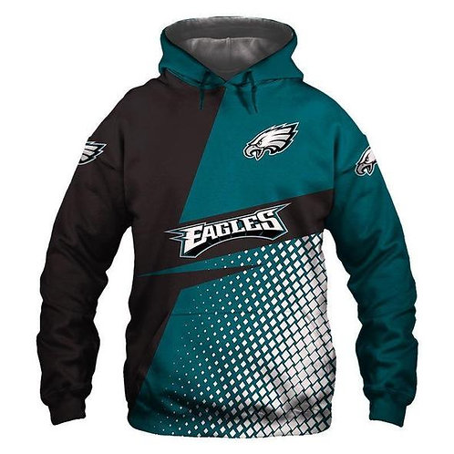 OFFICIAL-N.F.L.PHILADELPHIA-EAGLES-PULLOVER-HOODIE/NEW-CUSTOM-3D-GRAPHIC-DESIGN!