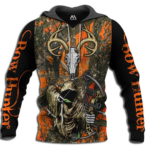 GRIMM-REAPER-CAMO.PULLOVER-HOODIES/BOW-HUNTERS-CUSTOM-3D-GRAPHIC-PRINTED-DESIGN!