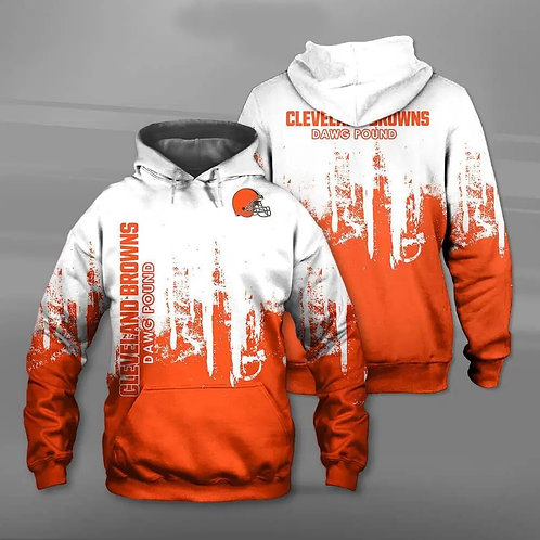 OFFICIAL-N.F.L.CLEVELAND-BROWNS-TEAM-PULLOVER-HOODIES/CUSTOM-3D-DAWG-POUND-LOGOS