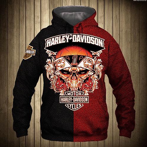 OFFICIAL-HARLEY-DAVIDSON-MOTORCYCLE-BIKER-PULLOVER-HOODIES/CUSTOM-3D-GRAPHICS!!