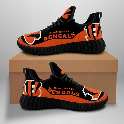 OFFICIAL-CINCINNATI-BENGALS-TEAM-BLACK-SPORT-SHOE/CUSTOM-3D-DESIGN-BENGALS-LOGOS