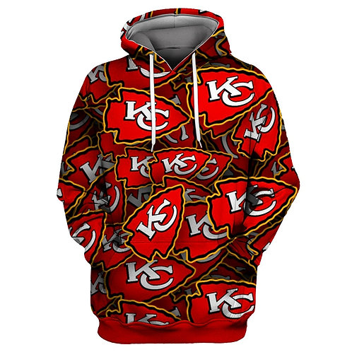 OFFICIAL-N.F.L.KANSAS-CITY-CHIEFS-PULLOVER-TEAM-HOODIE/CHIEFS-ARROW-HEAD-DESIGN!