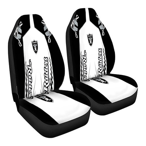 OFFICIAL-OAKLAND-RAIDERS-TEAM-CAR-SEAT-COVERS/NEW-CUSTOM-3D-DESIGN-RAIDERS-LOGOS
