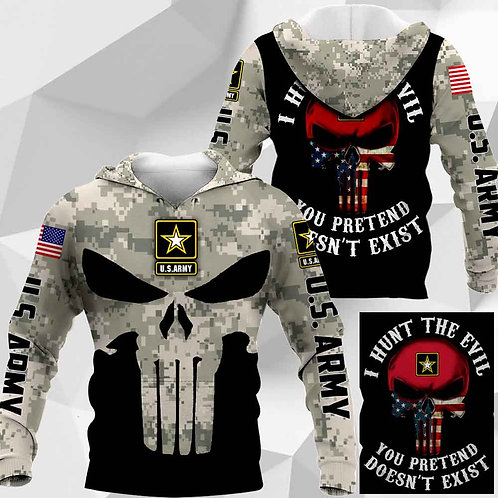 OFFICIAL-U.S.ARMY-CAMO.PULLOVER-HOODIES/CUSTOM-3D-GRAPHIC-PRINTED-PUNISHER-SKULL