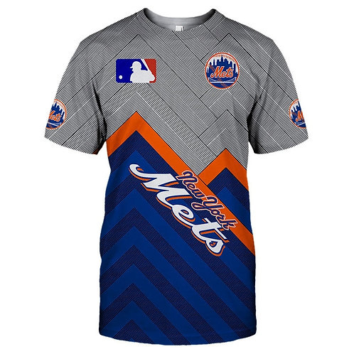 *OFFICIAL-M.L.B.NEW-YORK-METS-TEAM-TEES/NEW-CUSTOM-3D-EFFECT-GRAPHIC-PRINT-TEES*