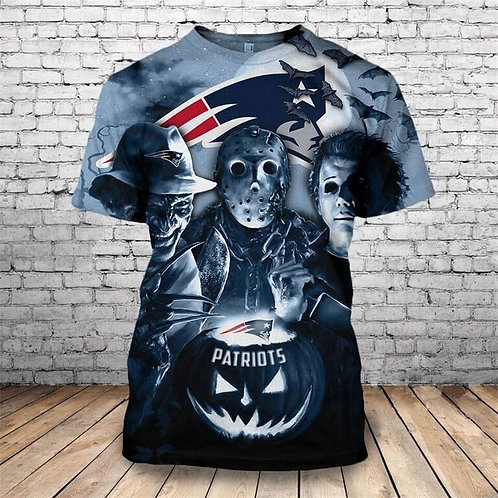 OFFICIAL-N.F.L.NEW-ENGLAND-PATRIOTS-TEAM-TEES/CLASSIC-HALLOWEEN-HORROR-MOVIE-TEE