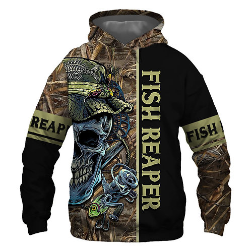 OFFICIAL-FISHING-SKULL-CAMO.PULLOVER-HOODIES/CUSTOM-3D-PRINTED-THE-FISH-REAPER!!