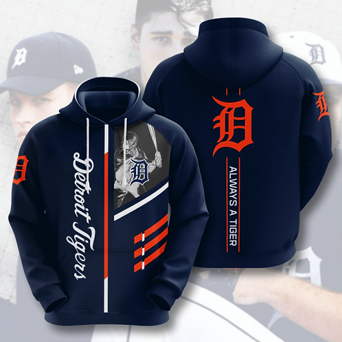 OFFICIAL-M.L.B.DETRIOT-TIGERS-TEAM-PULLOVER-HOODIES/CUSTOM-3D-GRAPHIC-PRINTED!!