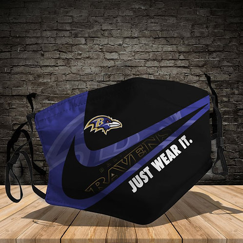 OFFICIAL-BALTIMORE-RAVENS-TEAM-PROTECTIVE-FACE-MASK/CUSTOM-3D-PRINTED DESIGNED