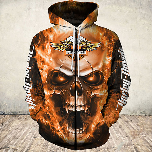 OFFICIAL-HARLEY-DAVIDSON-ZIPPERED-HOODIES/3D-CUSTOM-GRAPHIC-PRINTED-HARLEY-LOGOS
