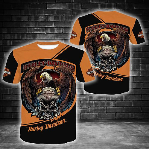 OFFICIAL-HARLEY-DAVIDSON-MOTORCYCLE-SHORT-SLEEVE-TEE/NEW-3D-CUSTOM-HARLEY-EAGLE!