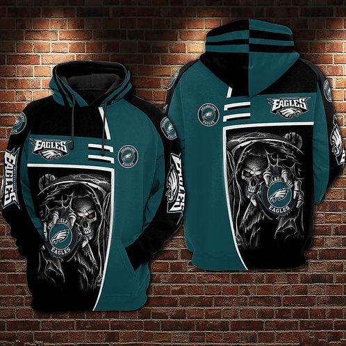OFFICIAL-N.F.L.PHILADELPHIA-EAGLES-PULLOVER-HOODIES/CUSTOM-3D-GRIM-REAPER-DESIGN