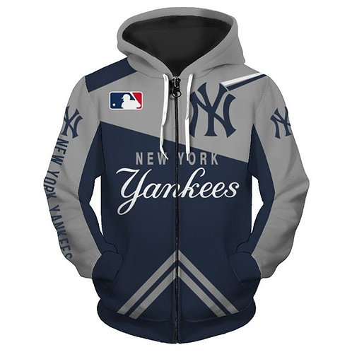 **(OFFICIALLY-LICENSED-M.L.B. NEW-YORK-YANKEES/3D-GRAPHIC-PRINTED-TEAM-HOODIES)*