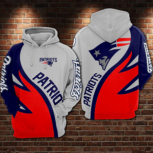 OFFICIAL-N.F.L.NEW-ENGLAND-PATRIOTS-PULLOVER-HOODIES/CUSTOM-3D-PRINTED-DESIGN!!