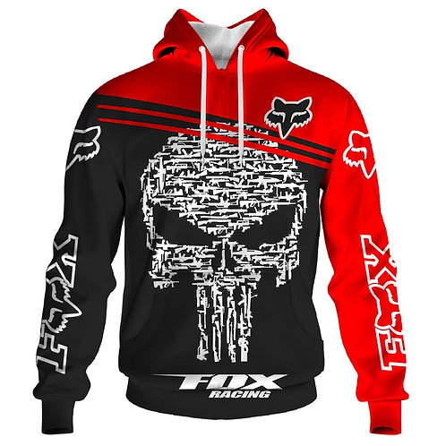 OFFICIAL-FOX-RACING & PUNISHER-SKULL-PULLOVER-HOODIES/CUSTOM-3D-GRAPHIC-PRINTED!