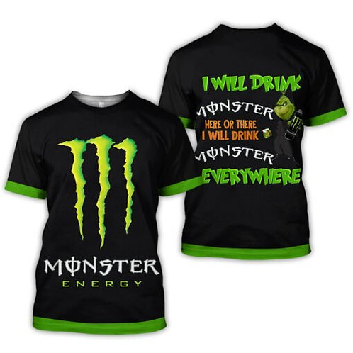 OFFICIAL-MONSTER-ENERGY-TRENDY-TEES/NEW-CUSTOM-3D-GRAPHIC-PRINTED-MONSTER-GRINCH