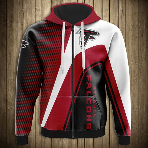 *OFFICIAL-NEW-N.F.L.ATLANTA-FALCONS/NEW-3D-CUSTOM-PRINTED-TEAM-ZIPPERED-HOODIES*