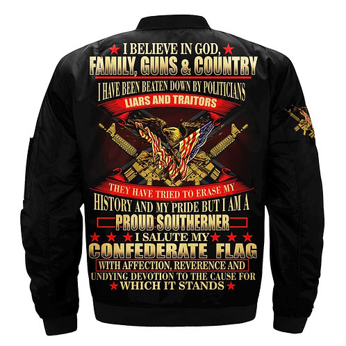 OUR-2ND-AMENDMENT/I-BELIEVE-IN-GOD,FAMILY,GUNS & COUNTRY/3D-CUSTOM-PRINT-JACKETS