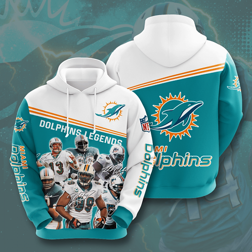 OFFICIAL-N.F.L.MIAMI-DOLPHINS-TEAM-PULLOVER-HOODIES/CUSTOM-3D-DOLPHINS-LEGENDS!!