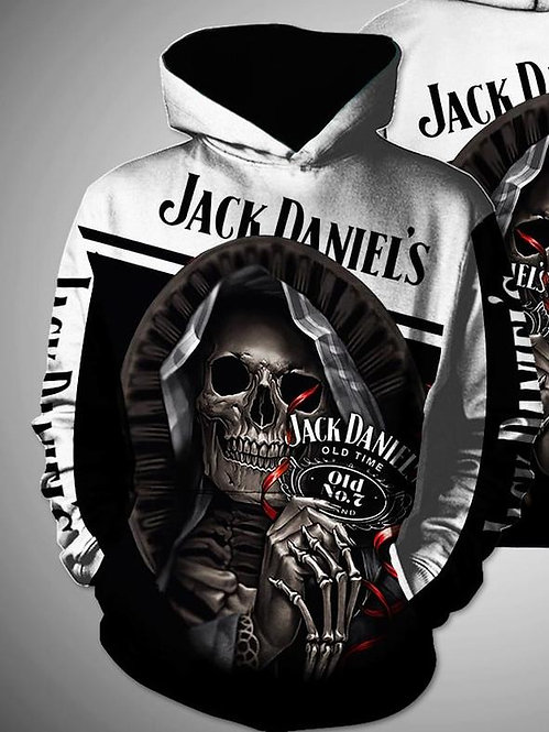 OFFICIAL-JACK-DANIELS-PULLOVER-HOODIES/CUSTOM-3D-HOODED-REAPER & OLD-NO.7-BRAND!