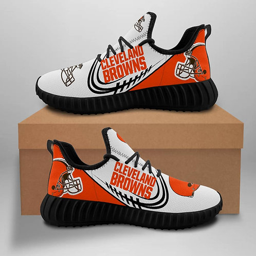 OFFICIAL-CLEVELAND-BROWNS-TEAM-BLACK-SPORTS-SHOE/CUSTOM-3D-DESIGN-BROWNS-LOGOS!!