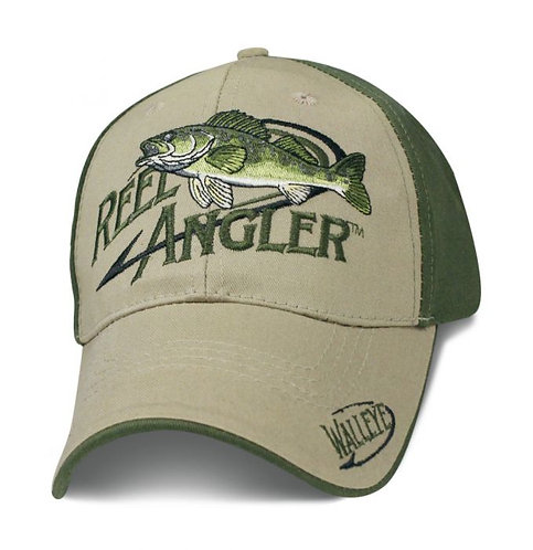 OFFICIAL-REEL-ANGLER/WALLEYE-FRESH-WATER-SPORTSMEN-FISHING/3D-CUSTOM-PRINT-HATS!