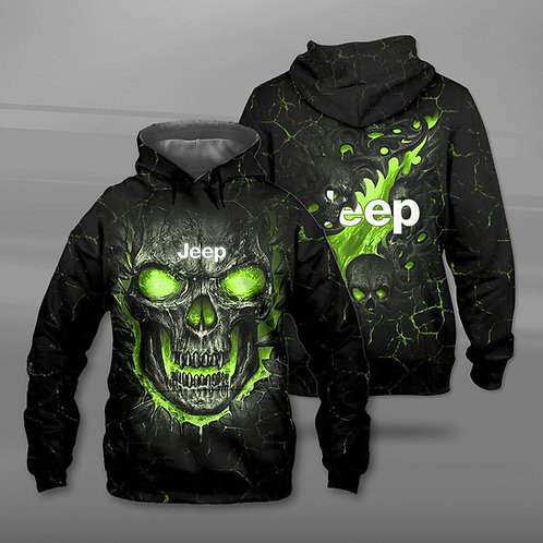 BIG-FIREY-GREEN-SKULL-THEMED-OFFICIAL-JEEP-PULLOVER-HOODIE/NEW-3D-CUSTOM-PRINTED