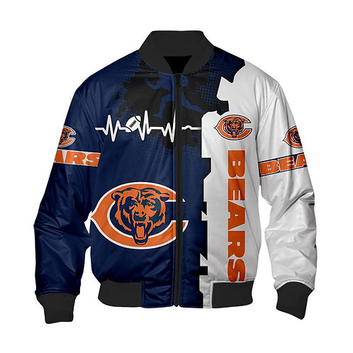 OFFICIAL-N.F.L.CHICAGO-BEARS-CUSTOM-JACKETS/NEW-CUSTOM-3D-GRAPHIC-PRINTED-DESIGN