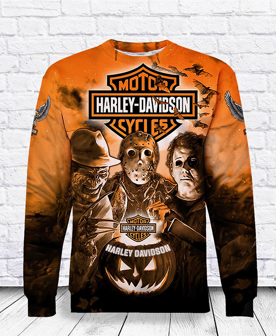 OFFICIAL-HARLEY-DAVIDSON-MOTORCYCLES-TEES/CLASSIC-HALLOWEEN-HORROR-MOVIE-ICONS!!
