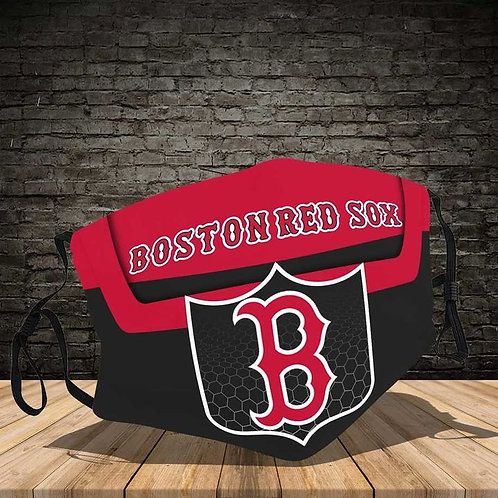 OFFICIAL-BOSTON-RED-SOXS-LOGOS-PROTECTIVE-FACE-MASK/CUSTOM-3D-PRINTED DESIGNED!