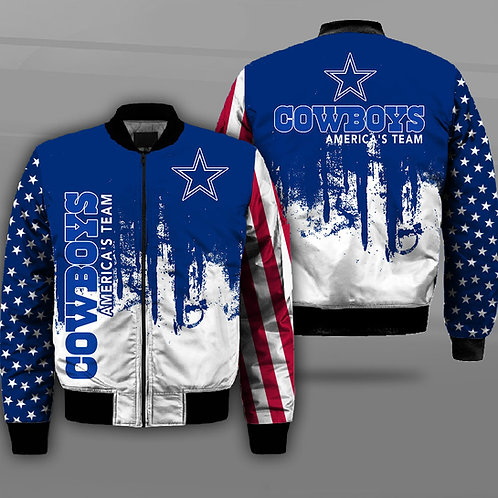 OFFICIAL-N.F.L.DALLAS-COWBOYS-JACKET/DALLAS-COWBOYS-TEAM-LOGOS & AMERICA'S-TEAM!