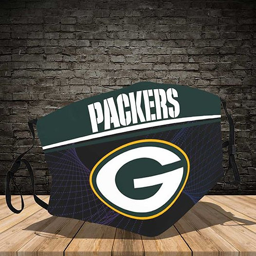 OFFICIAL-GREEN-BAY-PACKERS-TEAM-PROTECTIVE-FACE-MASK/CUSTOM-3D-PRINTED DESIGNED!