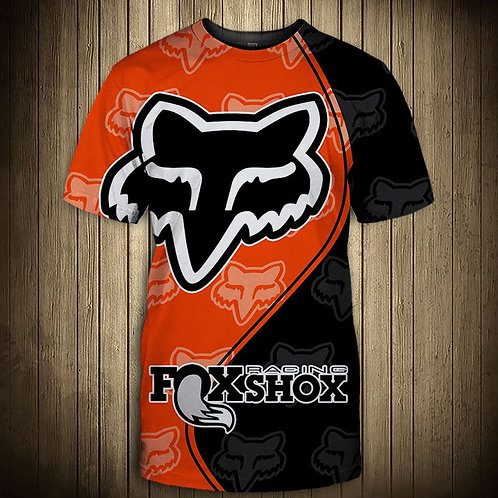 OFFICIAL-FOXSHOX-RACING-TRENDY-TEES/NEW-CUSTOM-3D-GRAPHIC-PRINTED-DOUBLE-SIDED!