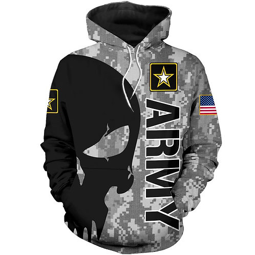 OFFICIAL-U.S.ARMY-PULLOVER-HOODIES/NEW-CUSTOM-3D-GRAPHIC-PRINTED-PUNISHER-SKULL!