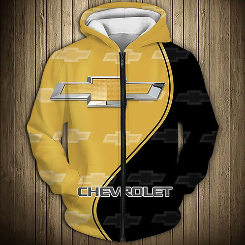 OFFICIAL-NEW-CHEVY-ZIPPERED-HOODIES/NICE-CUSTOM-3D-OFFICIAL-CHEVY-GRAPHIC-LOGOS!