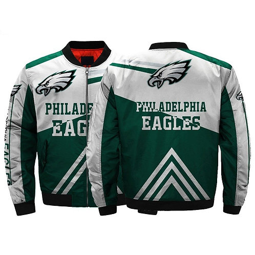 *(OFFICIAL-N.F.L.PHILADELPHIA-EAGLES-CUSTOM-JACKETS/CLASSIC-EAGLES-TEAM-COLORS)*