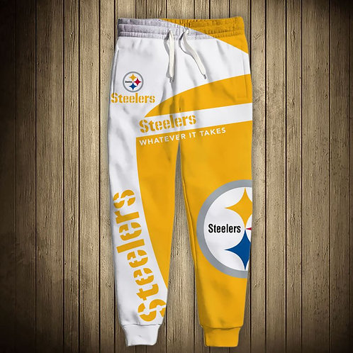 OFFICIAL-N.F.L.PITTSBURGH-STEELERS-TEAM-SWEAT-PANTS/NEW-CUSTOM-3D-GRAPHIC-DESIGN