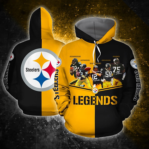 OFFICIAL-N.F.L.PITTSBURGH-STEELERS-PULLOVER-HOODIES & STEELERS-ALL-STARS-LEGENDS