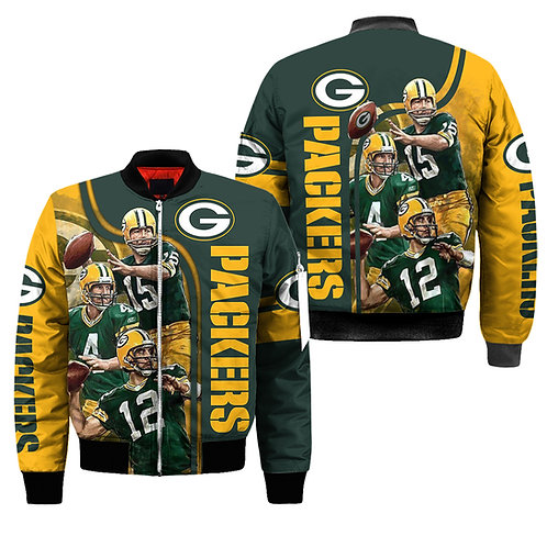 OFFICIAL-N.F.L.GREEN-BAY-PACKERS-3D-CUSTOM-JACKETS/ALL-STAR-PACKERS-TEAM-DESIGN!