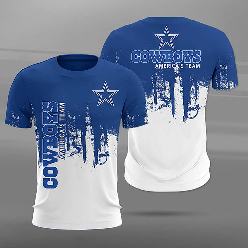 OFFICIAL-N.F.L.DALLAS-COWBOYS-TRENDY-TEAM-TEES/CUSTOM-GRAPHIC-3D-AMERICA'S-TEAM!